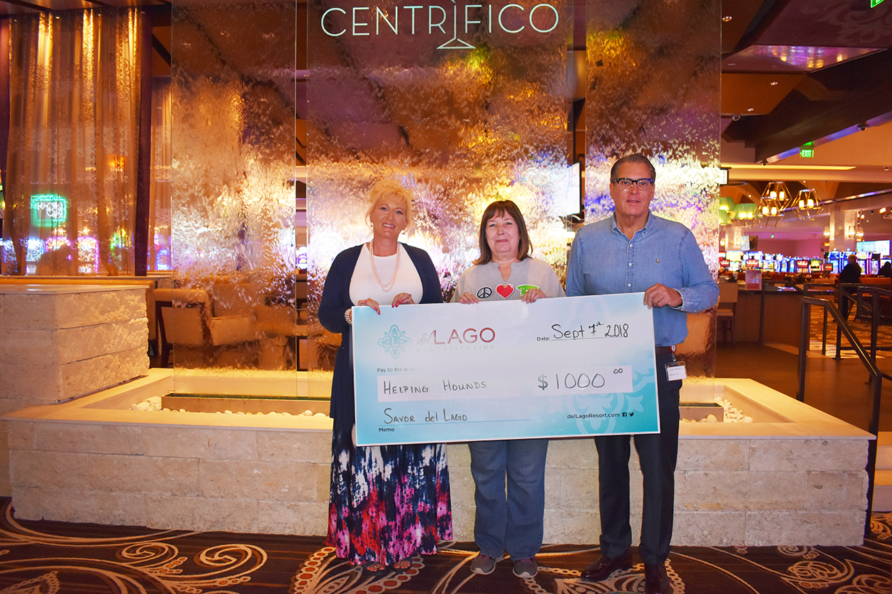 del Lago Resort & Casino's Tasting Tuesday Series raises $1,000  for Helping Hounds Dog Rescue of DeWitt