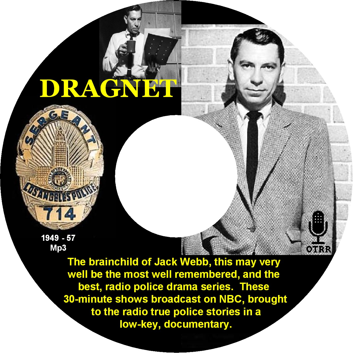 Dragnet - Single Episodes : Old Time Radio Researchers Group : Free