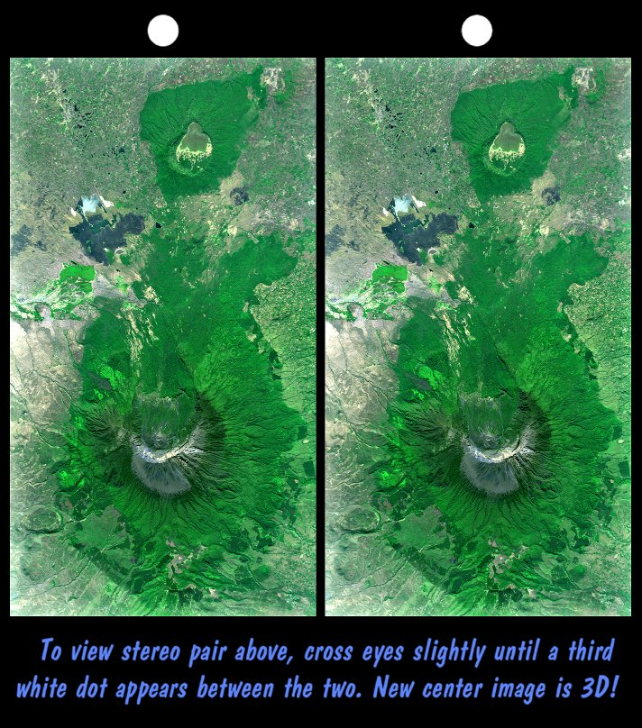 Stereo Pair With Landsat Overlay Mount Meru Tanzania Nasa Jpl Nima Free Download Borrow And Streaming Internet Archive