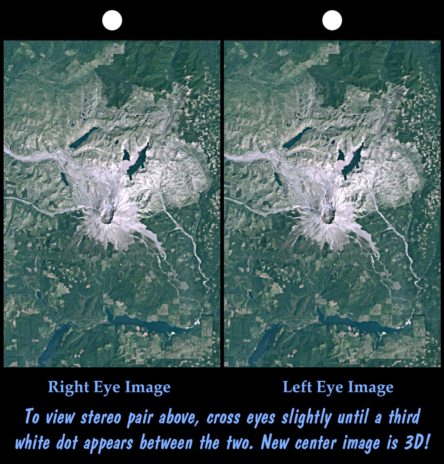 Stereo Pair Mount St Helens Washington State Nasa Free Download Borrow And Streaming Internet Archive