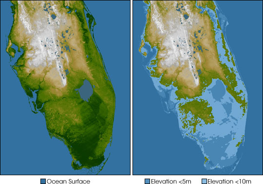 Elevation of Southern Florida: Image of the Day : NASA    Image