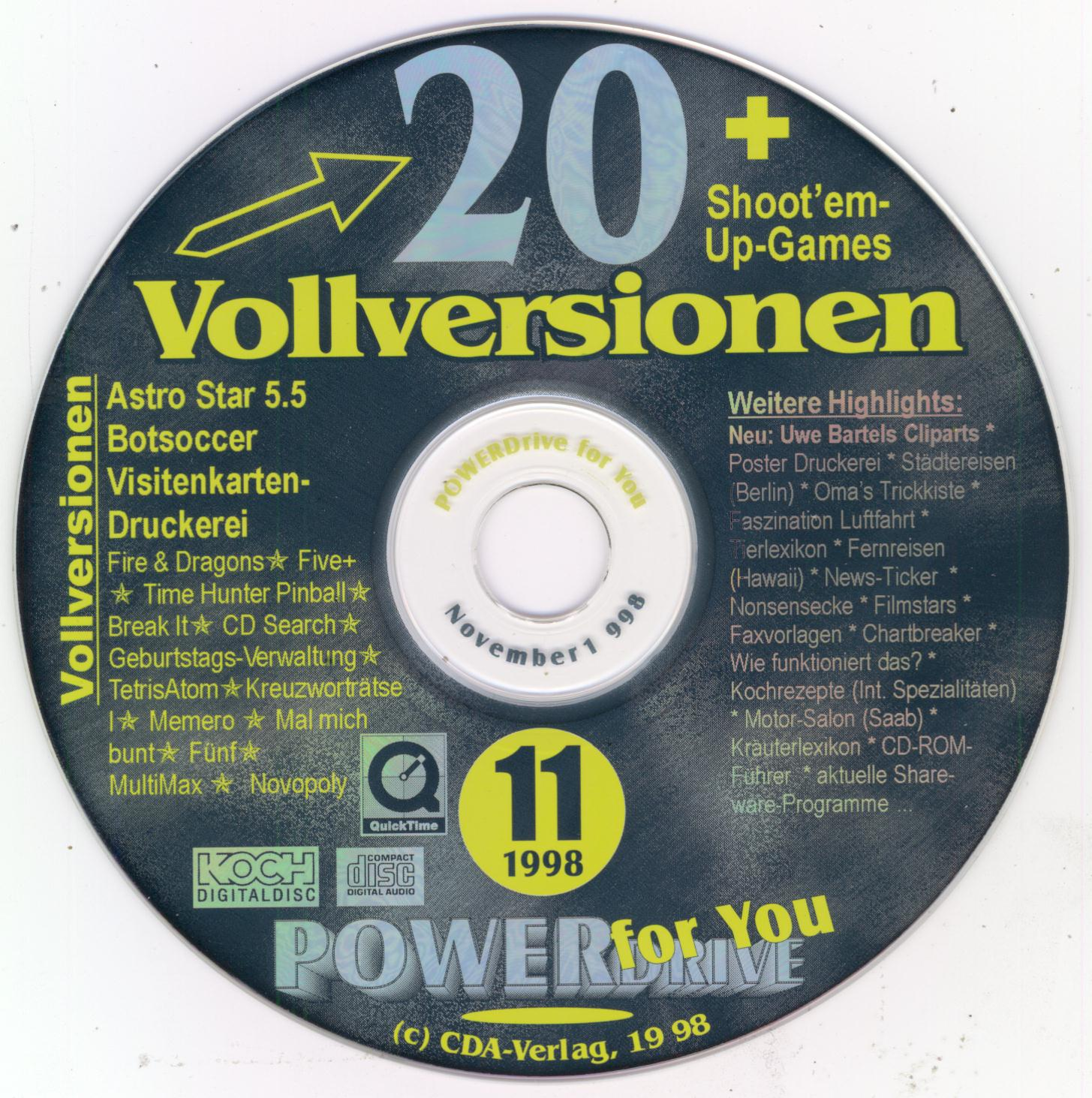 Powerdrive Cd Rom November 1998 Free Download Borrow