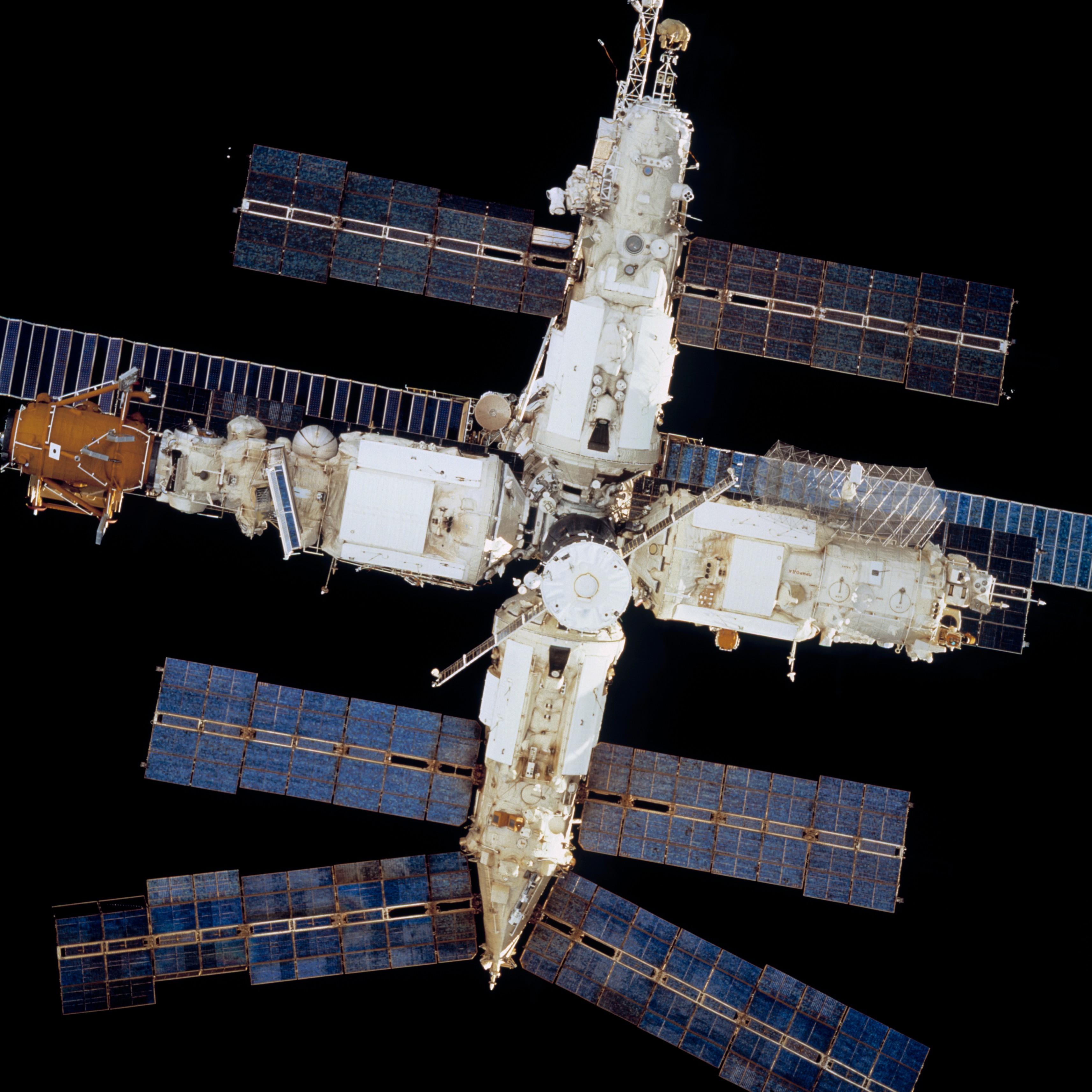 Survey Views Of The Mir Space Station Taken After Undocking Nasa