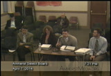 Still frame from: Amherst Select Board: 4-7-14