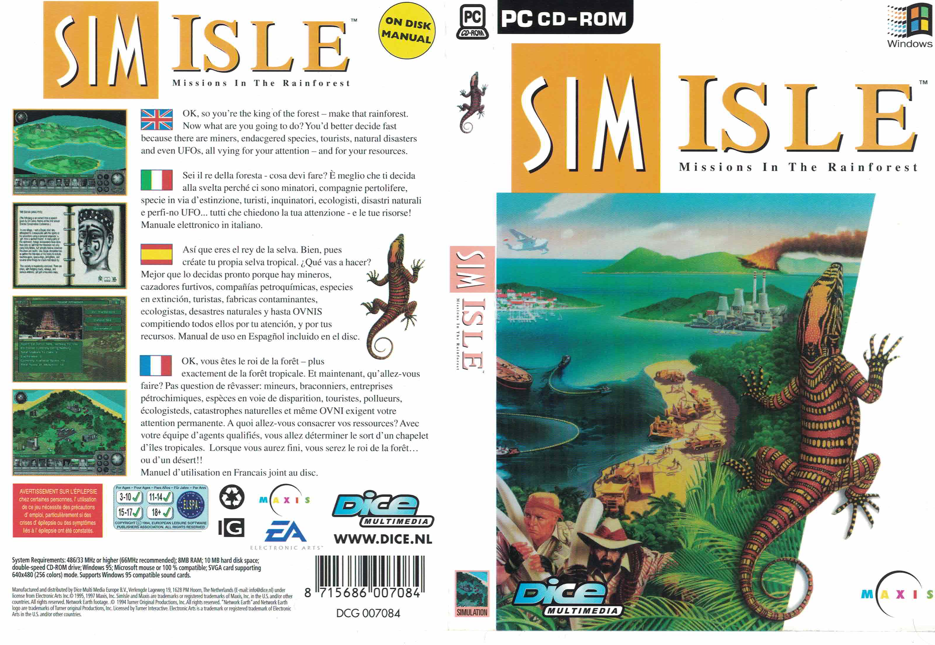 SimIsle: Missions in the Rainforest (PC Game - Windows 9x