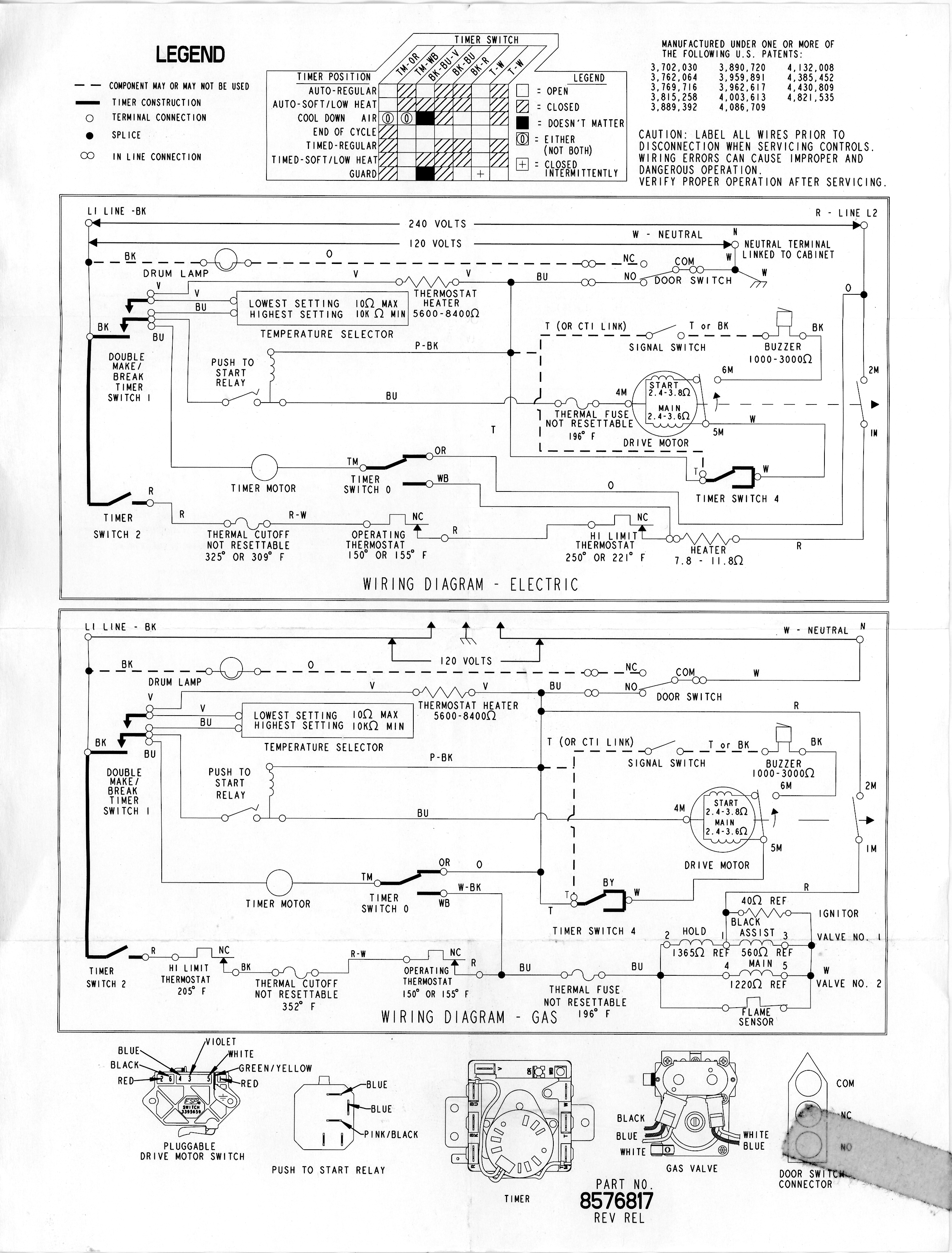 Whirlpool Clothes Dryer Schematic : Whirlpool : Free Download, Borrow, and  Streaming : Internet Archive