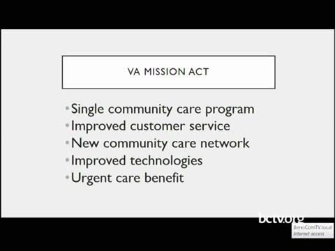 VA Mission Act / Urgent Care for Veterans 6-28-19