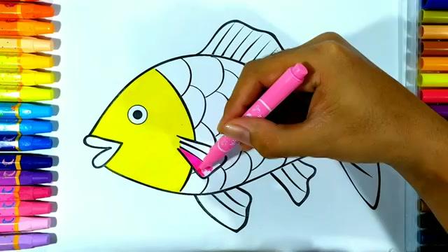 Belajar Mewarnai Ikan Warna Warni Untuk Anak Paud Dan Tk Drawing And Coloring Pages For Kids Free Download Borrow And Streaming Internet Archive