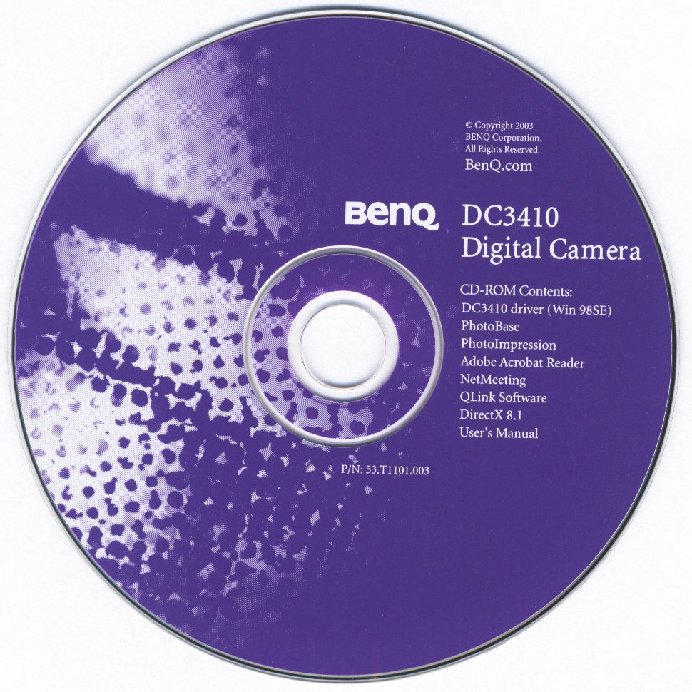 BENQ CAMERA DC 3410 TREIBER WINDOWS 7