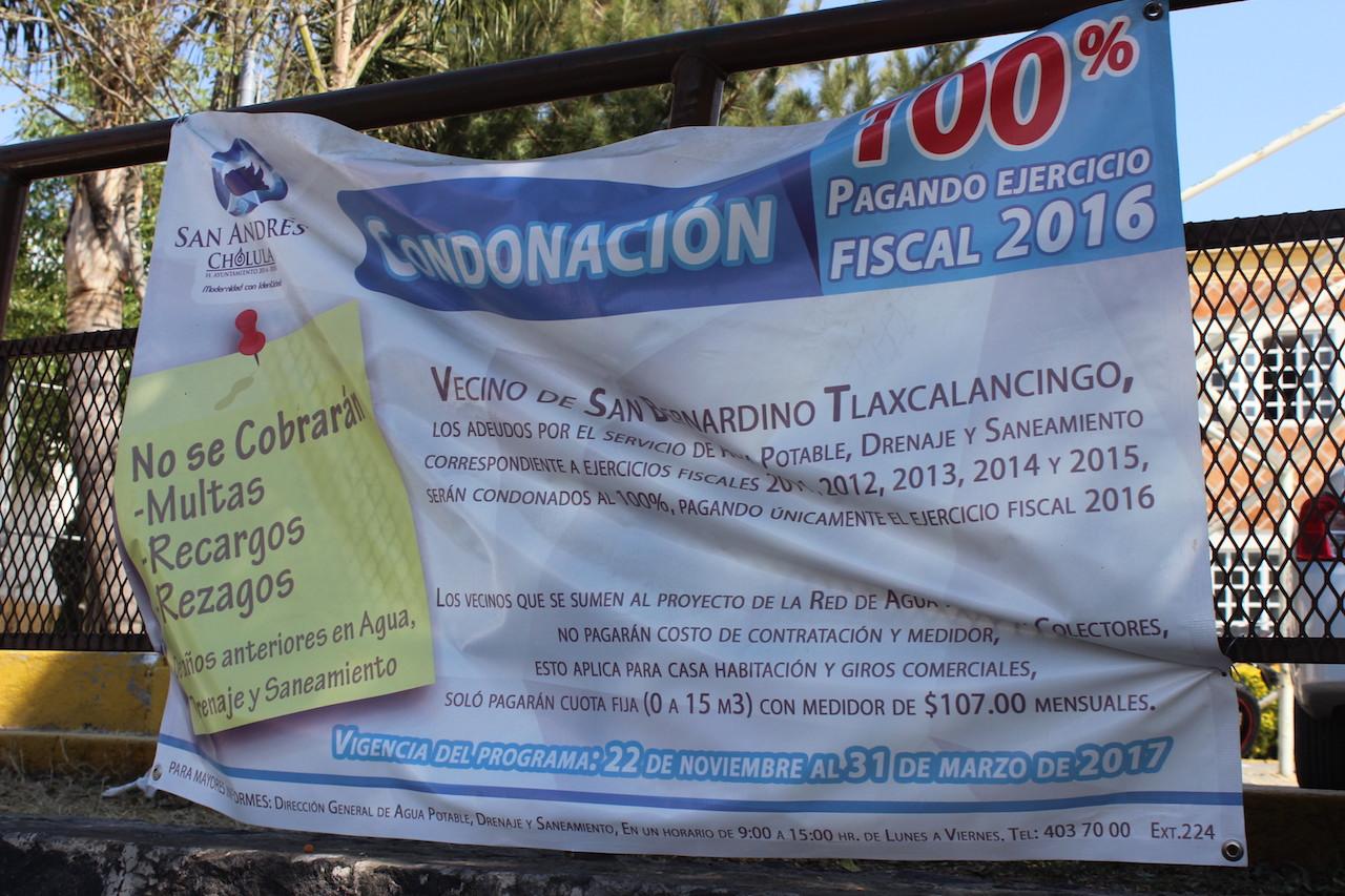 Campaña del ayuntamiento para aplicar descuentos a quienes contraten servicio del agua potable.
