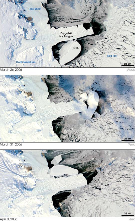 Antarctic Ice Collision: Image of the Day : NASA -- NASA ...