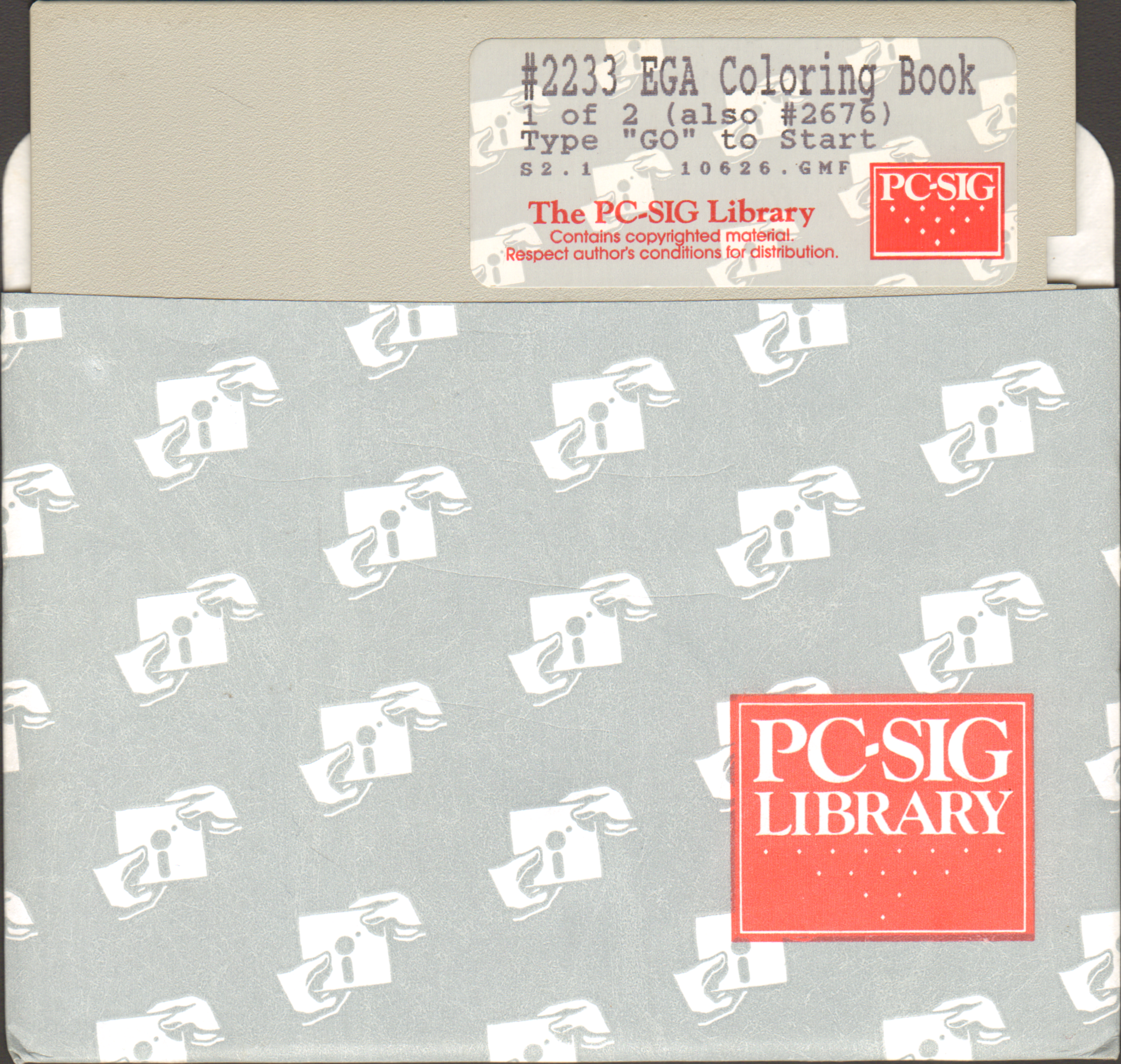 PC-SIG Library - #2233 EGA Coloring Book (1 of 2) : PC-SIG ...