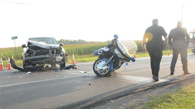 Motorcyclist airlifted from Hopewell crash on Thursday
