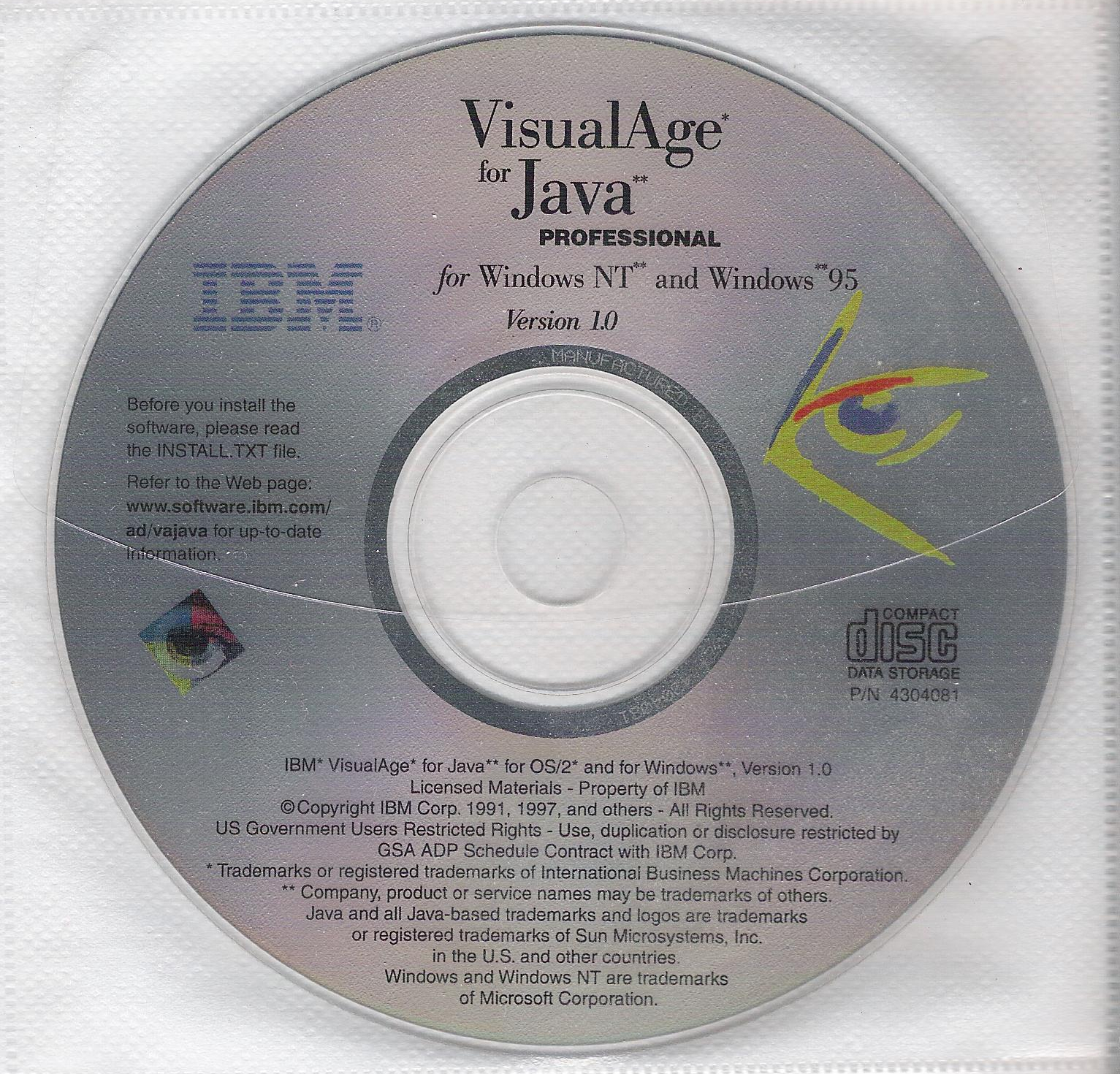 IBM VisualAge for Java for Windows NT and Windows 95 Version 1 0