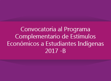 Programa de Estímulos Económicos para Estudiantes Indígenas