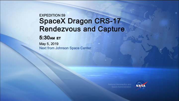 /iss059m261260929_Expedition_59_SpaceX_CRS-17_Rendezvous_Capture_2019_0506_1199871.mxf