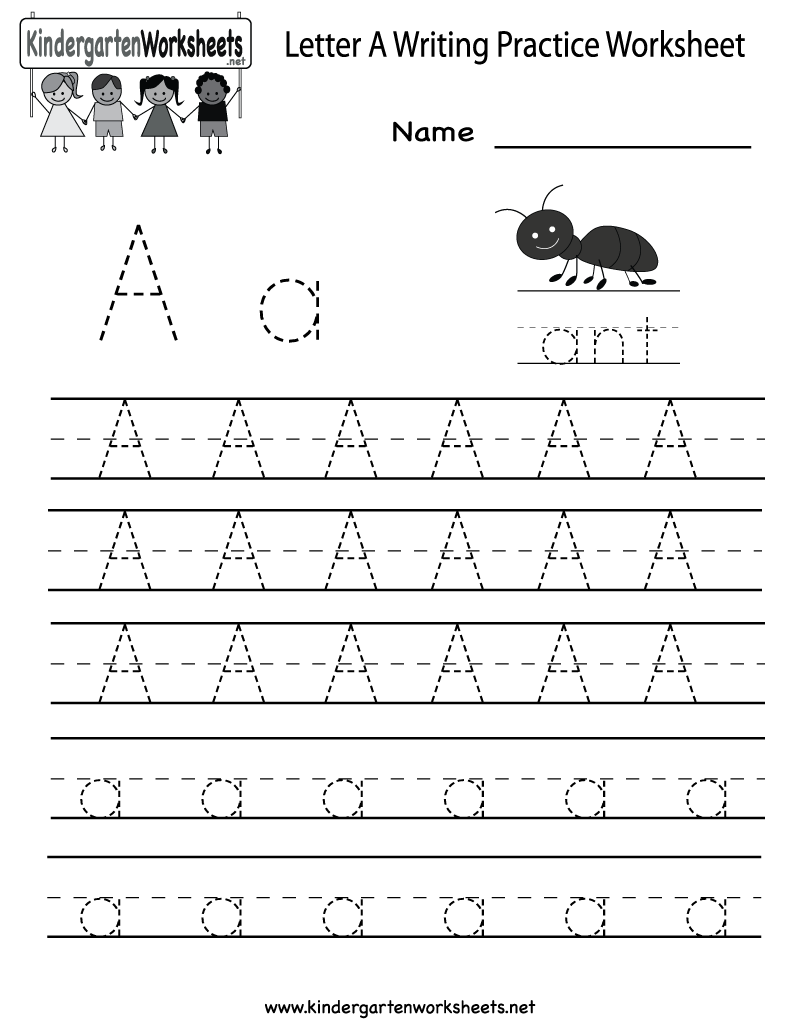 Letter A Writing Practice Worksheet Printable Free Download