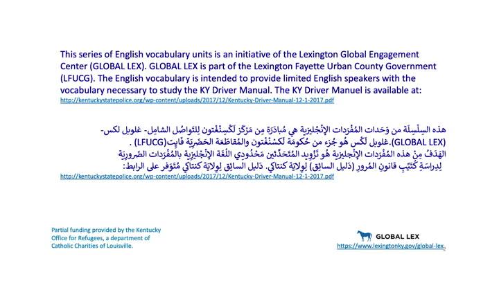 Drivers Education: Arabic - Lesson 1