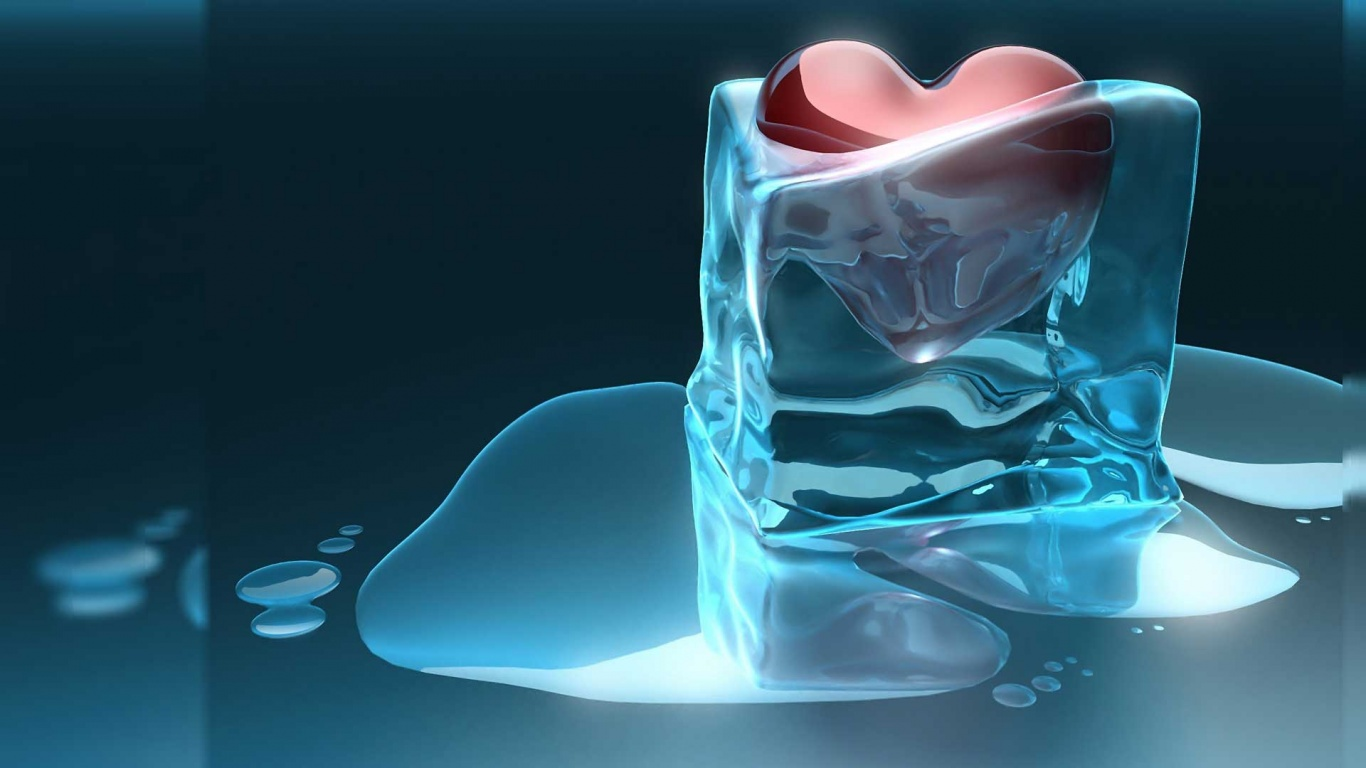 love 3d cold ice 1366x768 hd wallpapers : free download, borrow, and