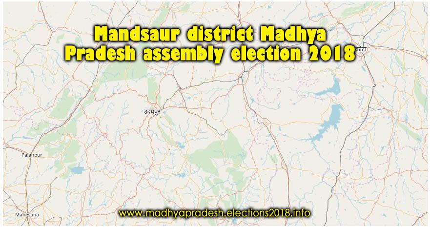 Mandsaur district wise constituency Madhya Pradesh Election 2018 map image मध्य प्रदेश चुनाव 2018