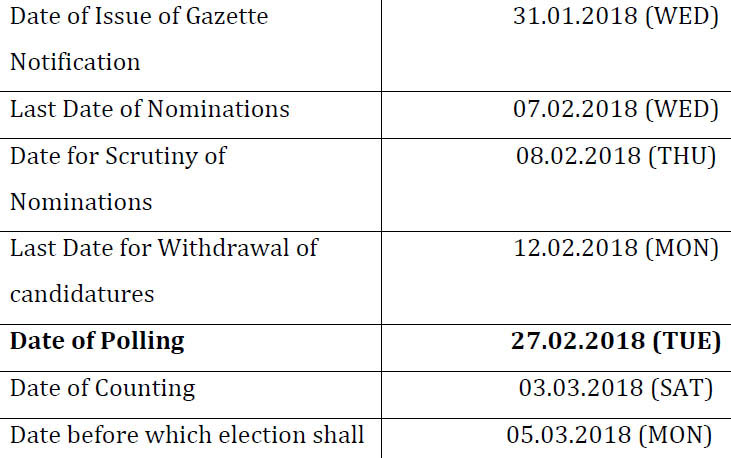 Nagaland Legislative Assembly election 2018 date shedule detail image