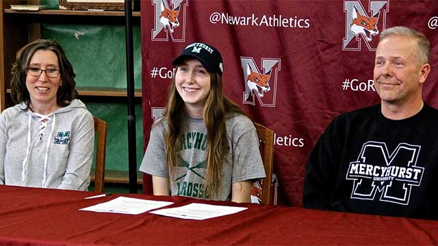 Newark's Grace Gajan signs NLI to play lacrosse at Mercyhurst