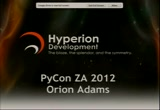 Image from PyConZA 2012: Hyperion Development: teaching and promoting Python