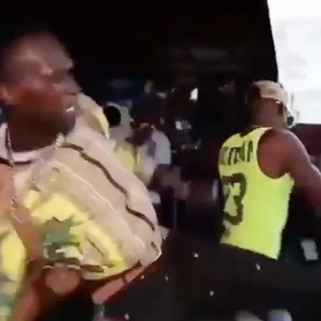Rapper Kicked Off Stage By Fake Fan Blocking His Shine