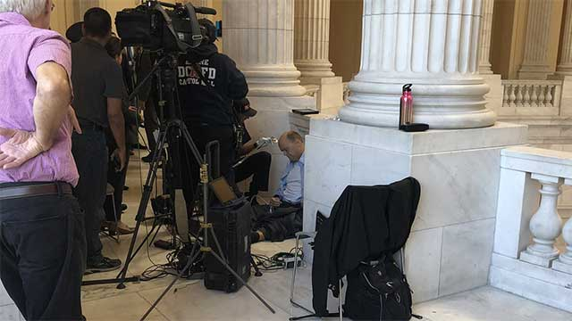 Congressman Tom Reed Collapses prior to Fox Business interview