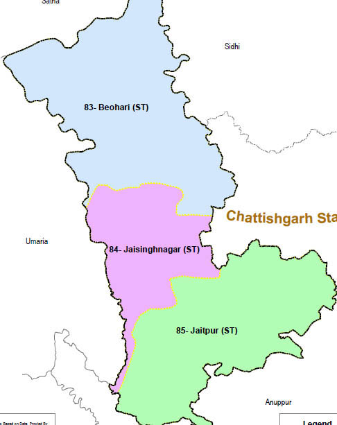 Shahdol district wise constituency Madhya Pradesh Election 2018 map image मध्य प्रदेश चुनाव 2018