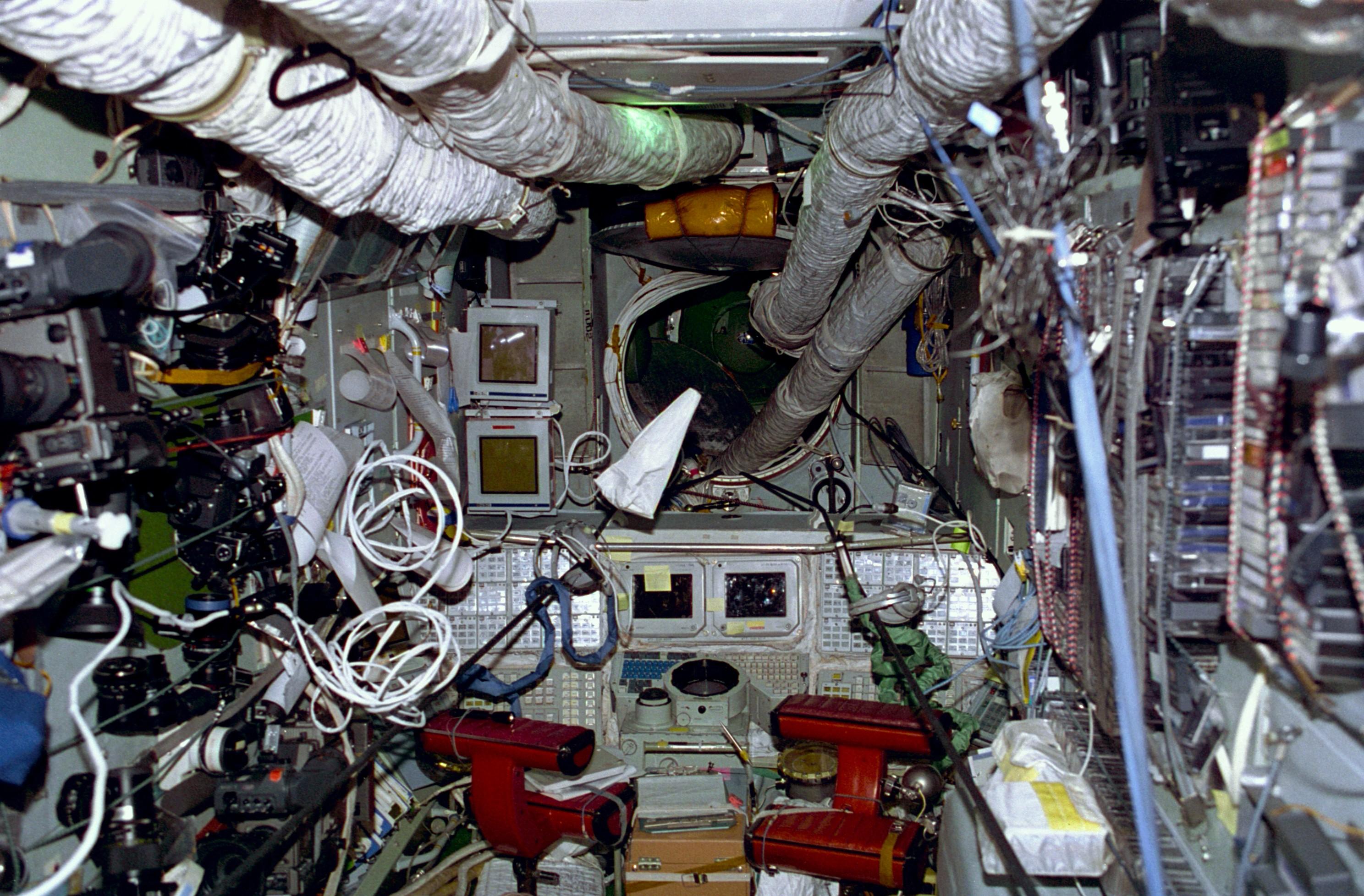 Interior Forward View Of Mir Space Station Base Block Nasa