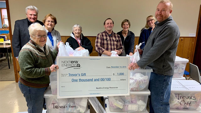 NextEra Energy Resources donates $1,000 to Trevor's Gift in Waterloo (video)