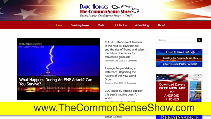 Dave Hodges Insider, 'EMP a Possibility?'    Trouble??