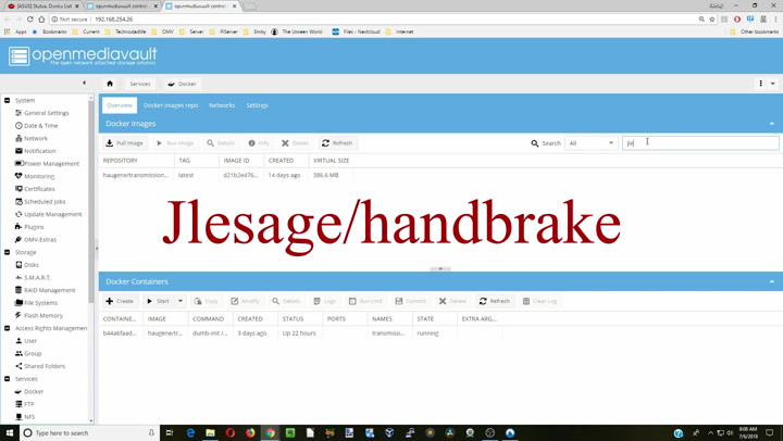 How to Use Handbrake to Automatically Convert Your Videos with  Openmediavault and Docker