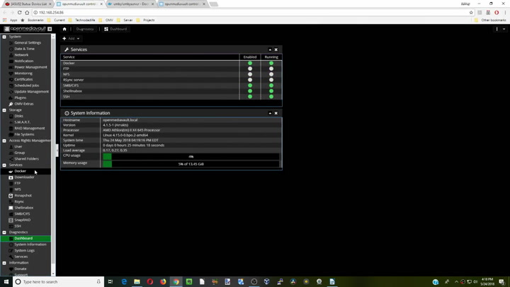 emby and plex on same server