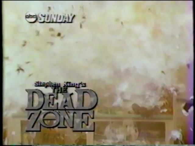 Stephen King's Dead Zone - Commercial - Martin Sheen Christopher Walken -  ABC (1987)