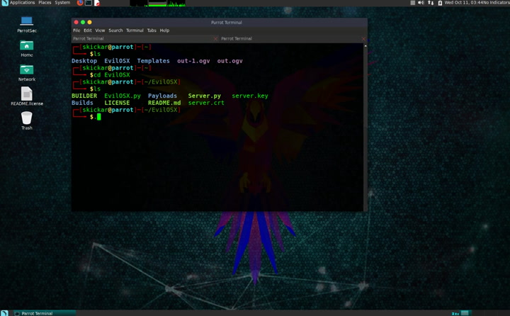 EvilOSX RAT - How to build a payload and start a server