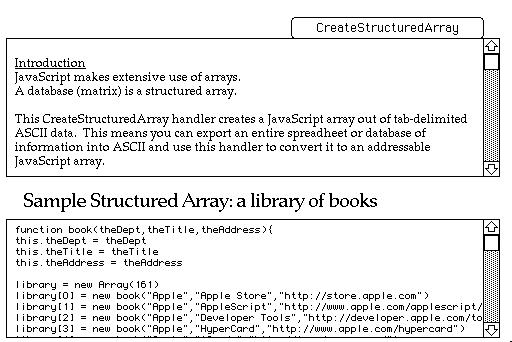 CreateStructuredArray Handler : R  Charles Flickinger : Free