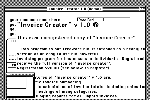 item preview - Invoice Creator