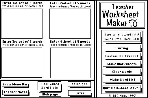 Teacher Worksheet Maker : GGallag958@aol.com : Free Download ...