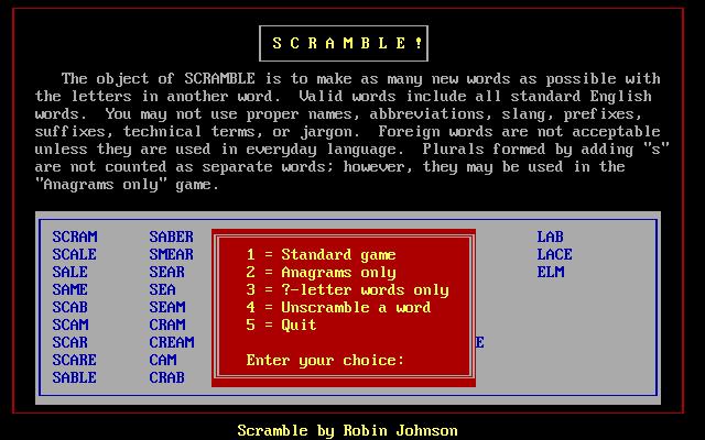 Scramble : Free Borrow & Streaming : Internet Archive