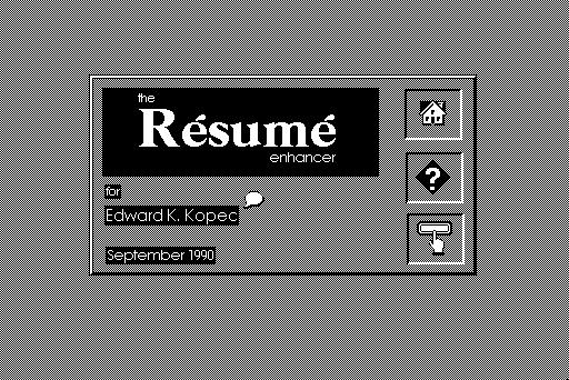 resume enhancer ed kopec free download borrow and streaming