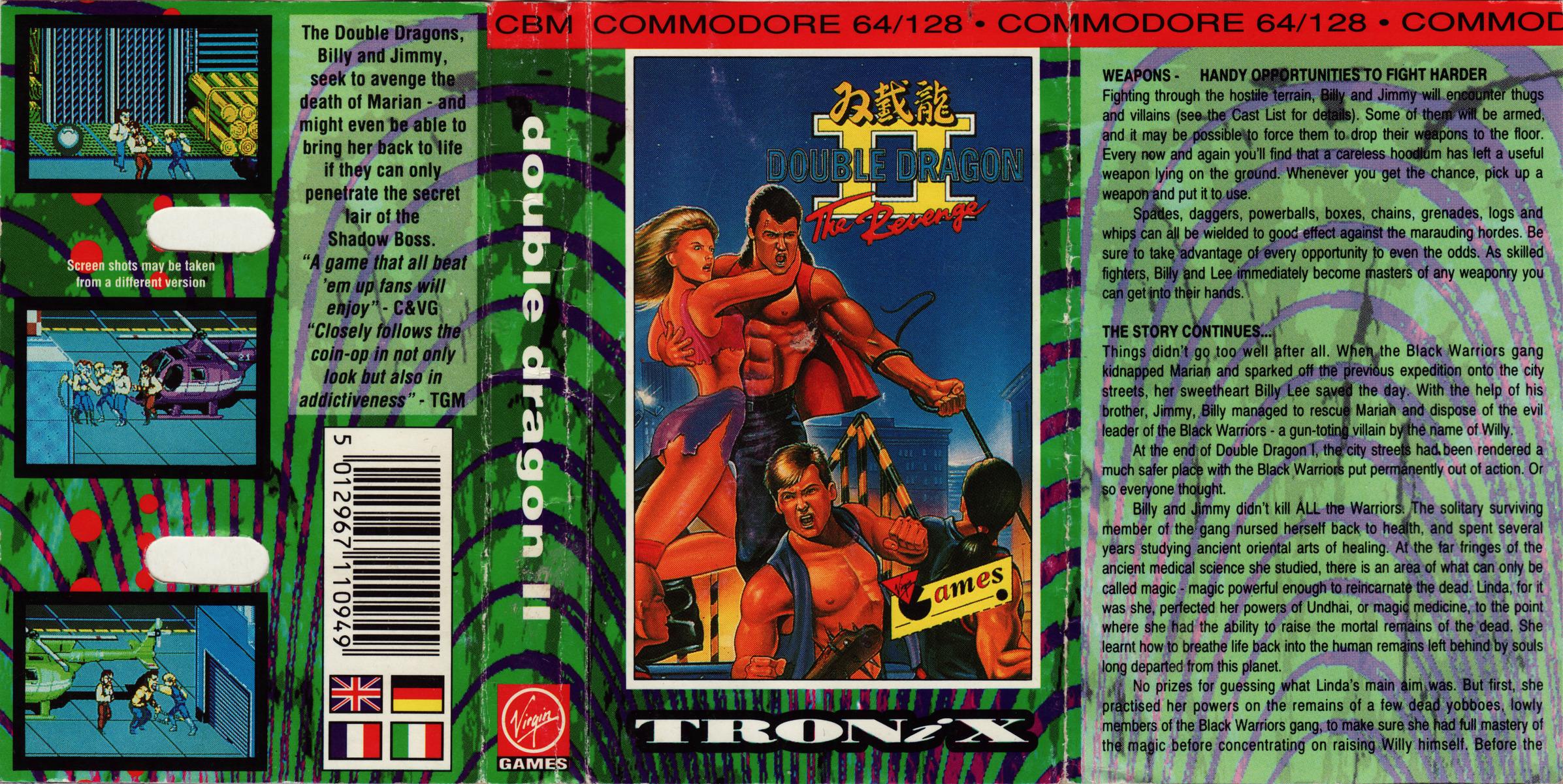 Double Dragon Ii The Revenge 1991 Tronix 6608 Free Download