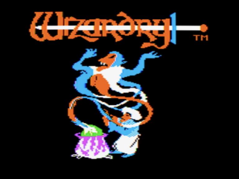 écran titre de Wizardry