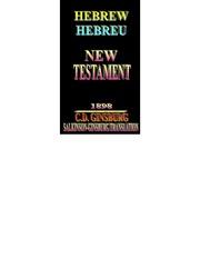01 - Book of Matthew (New Testament) - Hebrew Hebreu Hebraic - 1898