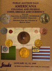 Americana Colonial and Federal Coins, Medals and Currency [01/12/1999]