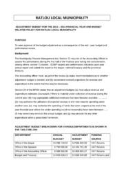 NW381 Ratlou Adjustment Budget 2013-14 2