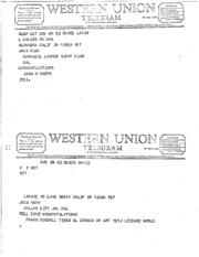 JFK Assassination DPD File 581