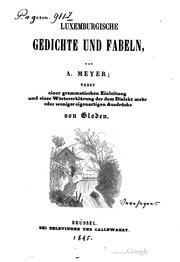 Luxemburgische Gedichte Und Fabeln Artur Meyer Free