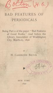 Bad features of periodicals